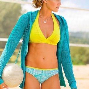 Athleta Shoreline Knit Zip Up Sweater Hoodie